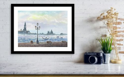 Venice Italy Grand Canale Watercolor Painting