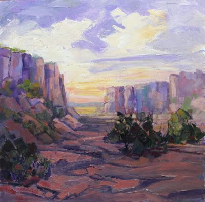 "Impressionist Landscape, Mountain Landscape, Trees, Fine Art Oil Painting ""Locked in Time"" by Colorado Contemporary Fine Artist Jody Ahrens"