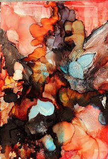 "Original Contemporary Abstract Mixed Media Painting ""Forest Floor"" by New Orleans Artist Lou Jordan"