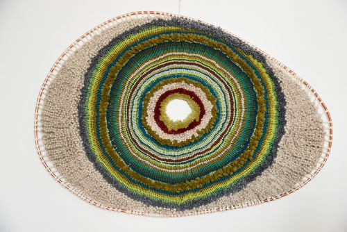 Concentric Circles of Tufted Wool and Natural Fibers Shape Giant Wall Hangings by Artist Tammy Kanat