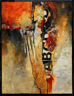 "Mixed Media Abstract Art Painting ""Don't Think Twice"" by Colorado Mixed Media Abstract Artist Carol Nelson"