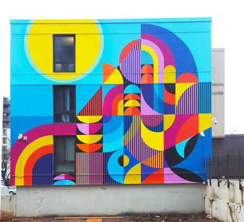 Textiles and Board Games Inspire Large-Scale Murals that Span Sidewalks, Streets, and Staircases