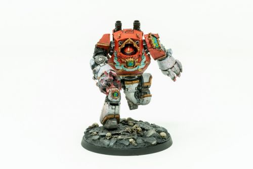 Showcase: World Eaters Red Butchers Contemptor Dreadnought by Silvernome