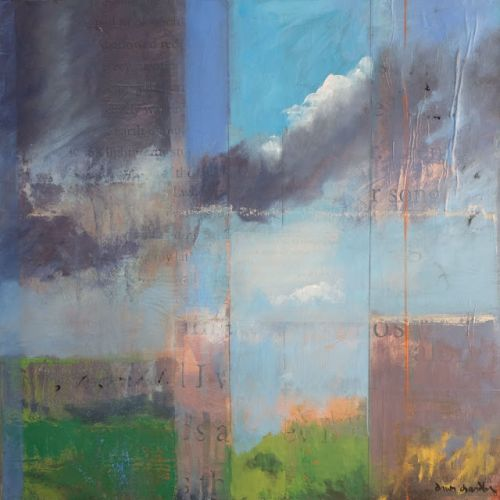 'high desert song, i' contemporary abstract landscape painting by dawn chandler