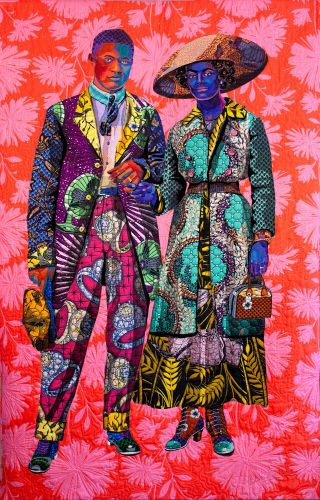 African Fabrics Connect to Form Quilted Portraits of Black Figures by Bisa Butler
