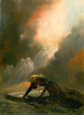Alexandre-Évariste Fragonard, Bradamante at Merlin's Tomb