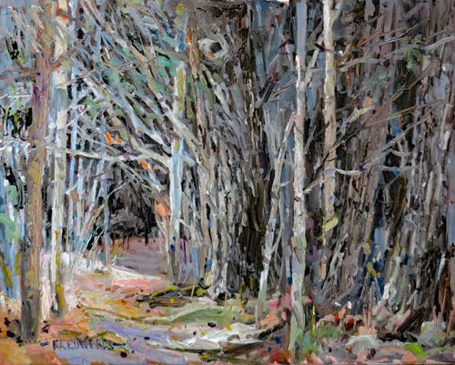 Forrest Path 16in. x 20in. Oil / Canvas