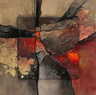 "Geologic Abstract Fine Art Print ""New London"" by Colorado Mixed Media Artist Carol Nelson Fine Art"