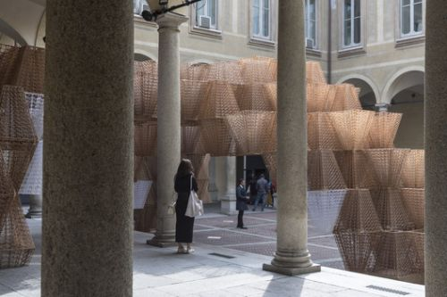 Top 5 Courtyard Installations at Milan Design Week Through the Lens of Laurian Ghinitoiu