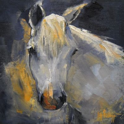 Horse Portrait, Horse Oil Painting, Daily Painting, Small Oil Painting