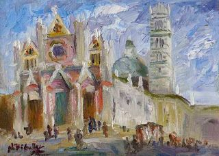 Visiting Siena Italy with Niki Gulley and Scott Williams on their Tuscany Art Trek