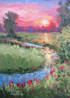 Sunrise Special, New Contemporary Landscape Painting by Sheri Jones
