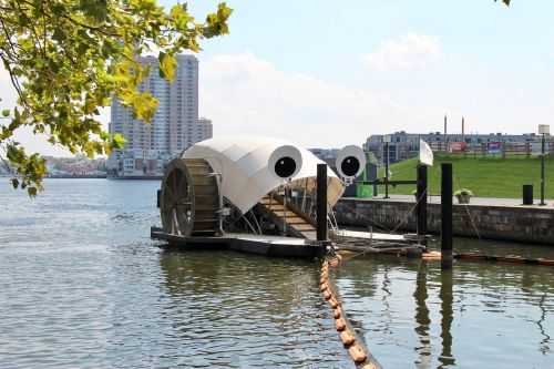 Mr. Trash Wheel: An Anthropomorphic Debris-Eating Mechanism Located in Baltimore Harbor