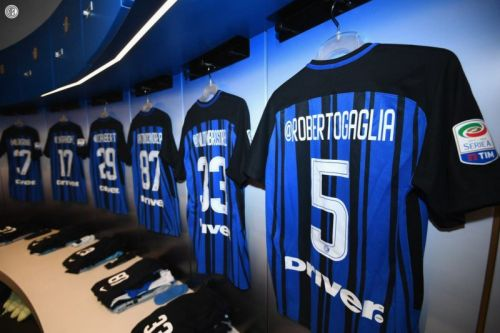 Inter Milan Soccer Team Wears Shirts with Instagram Handles