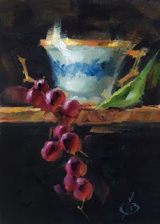 STILL LIFE WITH GRAPES by TOM BROWN