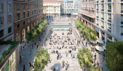 Foster + Partners' Milan Apple Store to Feature Public Plaza and Waterfall Entrance