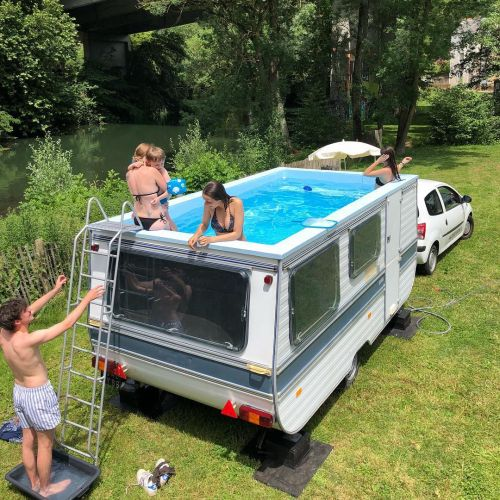 Defunct Old Cars Given New Life as Pools and Pizza Ovens by Benedetto Bufalino