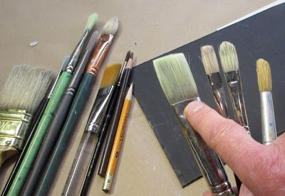 Cleaning Out Gouache Brushes