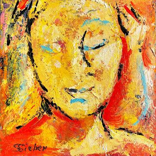 "12"" x 12"" x 1.5"" Acrylic on Wood Panel, Ready to Hang Edge of Painting Detail Buy Now View More Still Life Paintings HERE My Website Like my Facebook Page Follow me on Twitter Follow me on Instagram Fearless, Expressive Portrait Painting by"