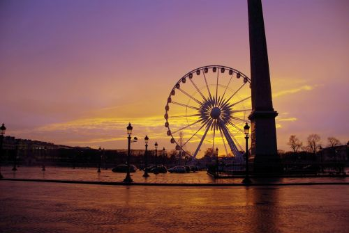 Sunset on Place de la Concorde