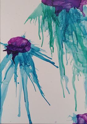 """Sea Life, Under the Sea, Contemporary Art, Abstract """"Pirate Squid"""" by Cynthia Berg"""