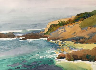 """""""Laguna Inlet"""" Juried into """"The Golden State"""" California Art Club Exhibit at the Old Mill"""