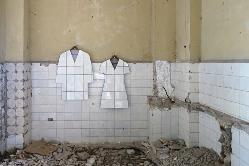 Second Hand: Ceramic Dresses, Shorts, and Other Faux Garments Created From Found Ceramic Tiles by Zhanna Kadyrova