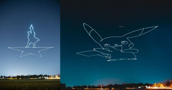 How to Light-Paint Giant Shapes in the Sky with a Drone