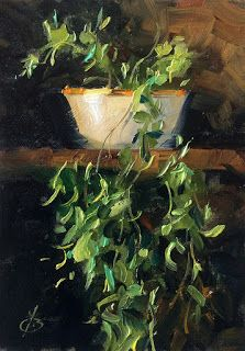 TRAILING IVY, STILL LIFE by TOM BROWN