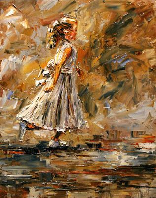 "Child, Little Girl, Figurative Fine Art Oil Painting, White Dress ""Angel"" By Texas Artist Debra Hurd"