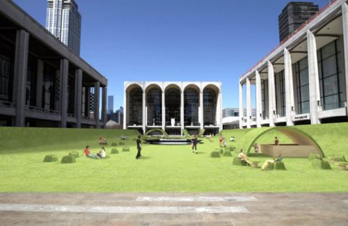 Lincoln Center's Josie Robertson Plaza Goes Green for the Summer