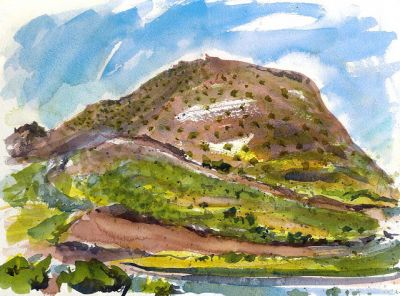 Sketching in Lanzarote: Day 15. Soaked to my Knickers!