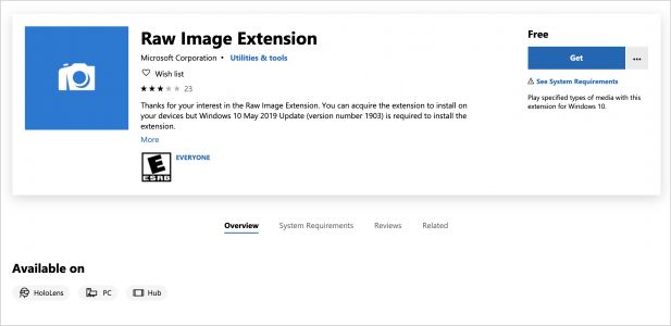 Microsoft Releases Free RAW Image Viewer Extension for Windows 10
