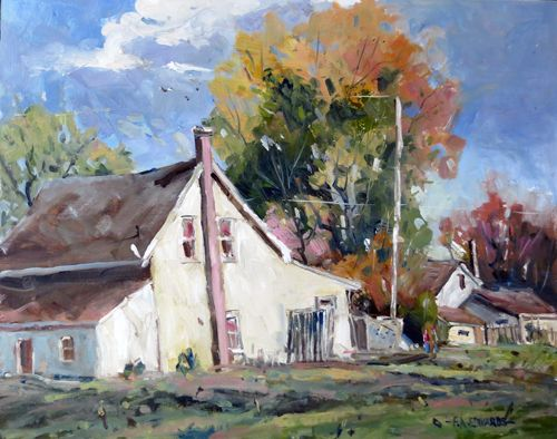 Neighbours 16In. x 20In. Oil / Canvas Kingston On. Canada