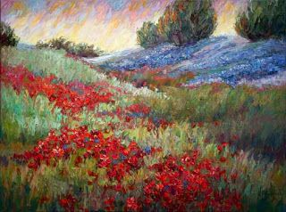 """New """"Tapestry of Colors"""" Texas Landscape Painting by Niki Gulley"""
