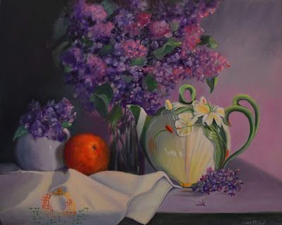 Lilacs, Oil Painting, Linda McCoy