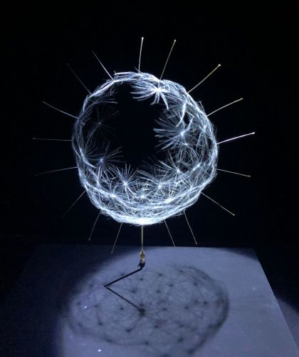 Delicate Miniature Sculptures Made From Dandelion Seeds by Euglena