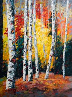 "Fall from the ""Evolving Seasons"" Series by Contemporary Impressionist Niki Gulley"