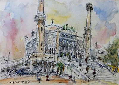 60th World Wide SketchCrawl at Seoul Central Mosque