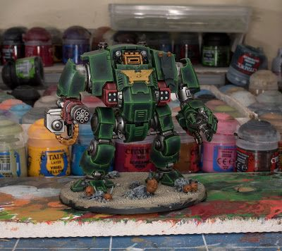 WIP: Dark Angel Primaris Redemptor Dreadnought