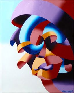 Mark Webster - Futurist Abstract Portrait Oil Painting