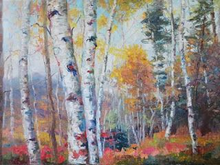 New 'October Transitions' oil painting by Contemporary Impressionist Niki Gulley