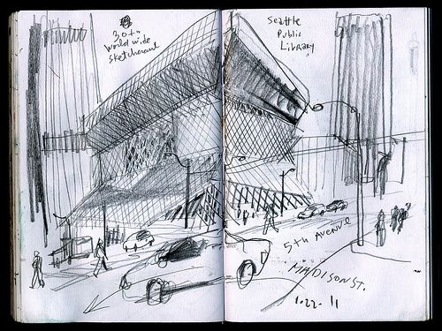 Koolhaas' Seattle Public Library makes a point about lines