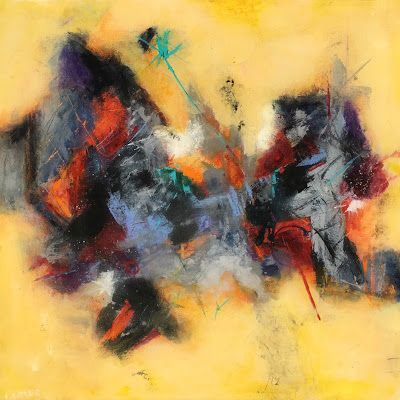 """Contemporary Art, Abstract Expressionist Fine Art Painting, Art for Sale """"August Discovery"""" by Contemporary Expressionist Pamela"""