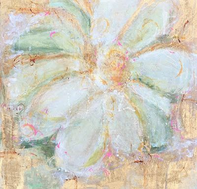 "Contemporary Abstract Expressionist Floral Painting ""FOR THE HOMECOMING DANCE"" by Abstract Artist Pamela Fowler Lordi"