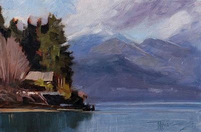 """""""Seabeck View"""" plein air, landscape painting by Robin Weiss"""