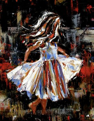 "Little Girl, Children, Fine Art Print ""My Dress Fine Art Print"" by Texas Artist Debra Hurd"