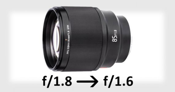 Viltrox 85mm f/1.8 Can Be Upgraded to f/1.6 with. a Firmware Update