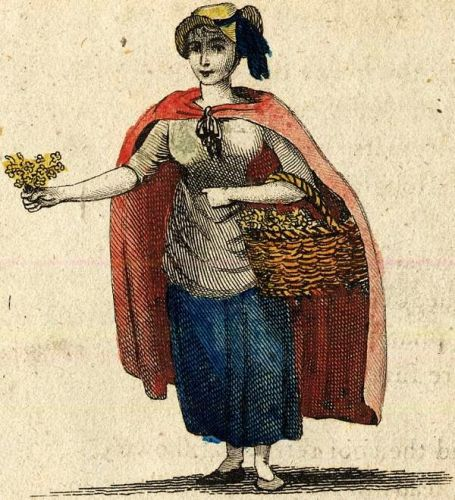 Celebrating The Earth's Beauty - 19C Flower Vendor in London