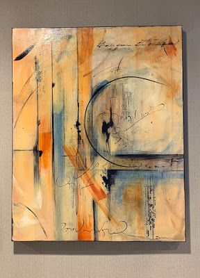 """Expressionism, Contemporary Painting, Mixed Media Art, """"Learn to Dance"""" by Texas Contemporary Artist Sharon Whisnand"""